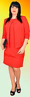 Женское платье с пиджаком большого размера №1153