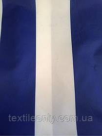 Ткань Палаточная 270 Д цвет бело-синяя полоска