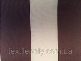 Ткань Палаточная 270 Д цвет бело-коричневая полоска