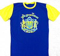 Футболка з великим гербом двохкольлорова