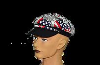 """Мужская летняя кепка """"Кент""""  американский флаг."""