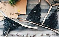 Комплект белья ручной работы кружевной набор
