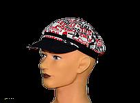"""Мужская летняя кепка """"Кент"""" красно-черный принт."""