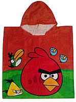"""Пончо пляжное (детское) """"Angy Birds"""" Piramit"""