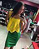 Шикарное комбинированное платье с перфорацией, фото 4