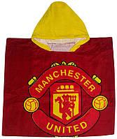 """Пончо пляжное (детское) """"Manchester united"""" Piramit"""