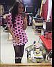 Трикотажное платье с принтом гороха, фото 3