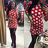 Трикотажное платье с принтом гороха, фото 2