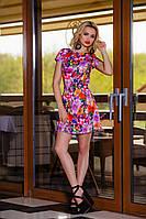 Яркий Летний Комбинезон-Платье Сиреневый S-XL