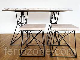 Комплект стол и табуреты Loft X-Ray