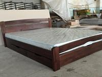 Кровать деревянная Нова с ящиками двуспальная Олимп/ Ліжко дерев'яне Нова з ящиками двоспальне Олімп