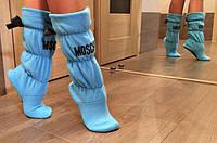 Женские тёплые домашние сапожки Moschino