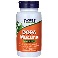 Dopa Mucuna, Now Foods, 90 Veg Capsules / Бархатные бобы / Мукуна жгучая