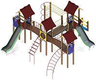 """Детский комплекс Kidigo """"Замок"""" высота горок 1,2 и 1,5 м"""