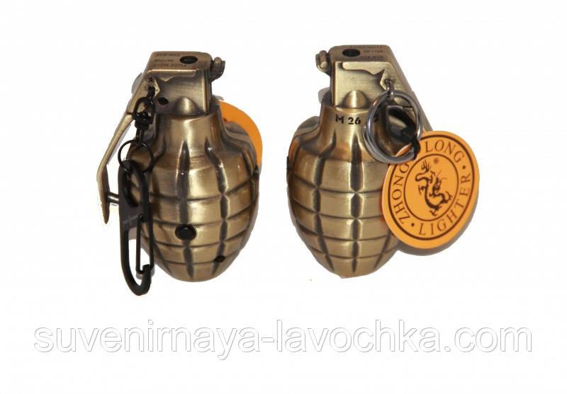 Зажигалка газовая граната маленькая 2