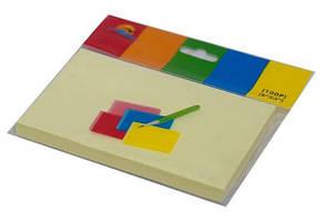 Бумага для заметок 76*127мм, 100л. жёлтая, с липким слоем