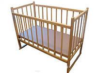 Кроватка Кф простая с качалкой ольха