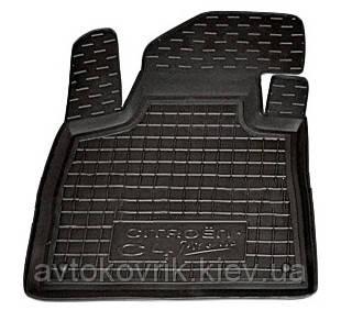 Полиуретановый водительский коврик в салон Citroen C4 Picasso II 2014- (AVTO-GUMM)