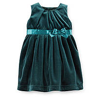 Платье велюр зеленое Сarters (18М)