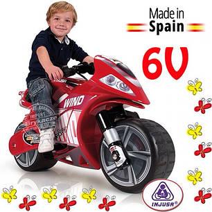 Детский электроавтомобиль мотоцикл съемные колеса Injusa 646, фото 2