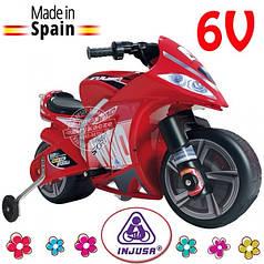Детский электроавтомобиль мотоцикл съемные колеса Injusa 646