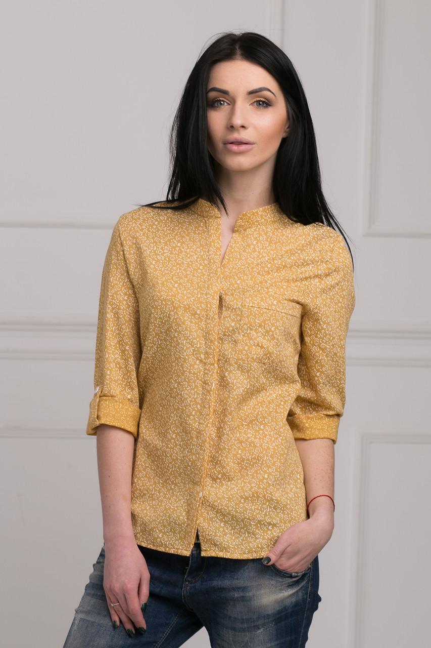 189909ba2905 Модная молодежная рубашка из хлопка в мелкий цветочек воротник-стойка, цена  245 грн., купить в Хмельницком — Prom.ua (ID#296032168)