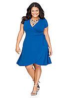 Коктейльное летнее платье большого размера Royal Lusien 10-239