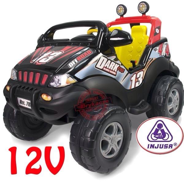 Детский автомобиль на батареи 12 V Dark Пожарный  injusa 780
