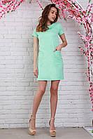 Очень красивое нарядное платье из жаккарда в мятном цвете