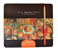 Карандаши цветные Marco 24 цвета Renoir Fine Art