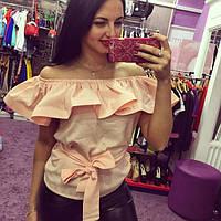 Блуза женская Яна нежно розовая , магазин одежды