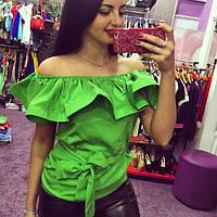 Блуза женская Яна салатовая , магазин одежды