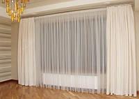 Тюль Микровуаль белая Приора + высококачественный пошив, фото 1