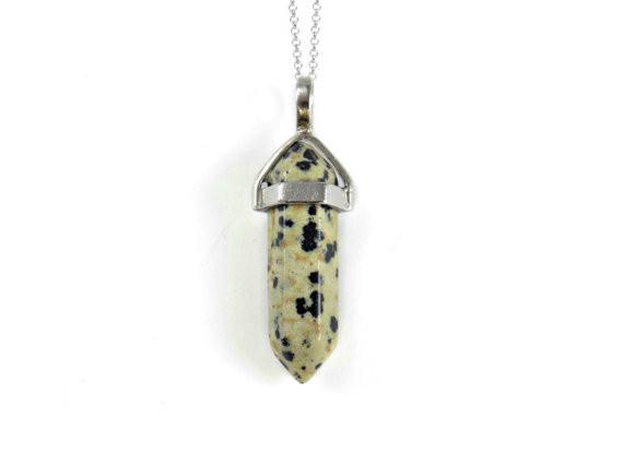 Кулон подвеска из натурального камня далматин