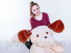 Мягкая игрушка Собака Тузик 140 см. Белый