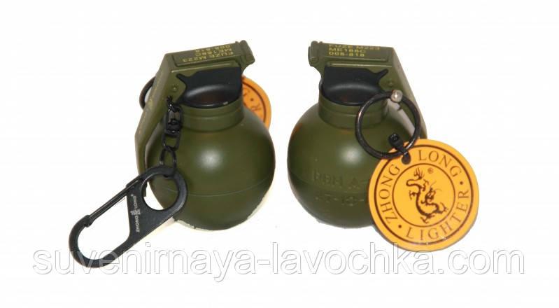 Зажигалка газовая граната маленькая 6