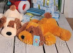 Мягкая игрушка Собака Шарик 55 см. медовый