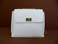 Брендовая женская сумочка  100% натуральная кожа! Италия Белый, фото 1