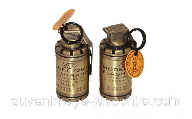 Зажигалка газовая граната большая 1