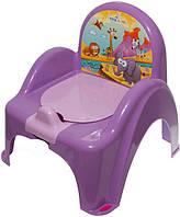 Детский горшок-кресло Веселка Сафари SF-10 сиреневый Tega  60260