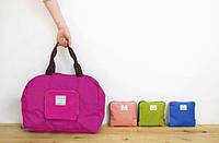 Летняя сумка женская складывается компактно с короткими ручками