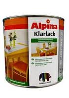 Глубоко матовый  лак для мебели Alpina Klarlack  2,5