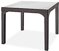 Ротанговый стол + стекло Comfort, фото 1