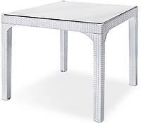 Ротанговый стол + стекло Comfort Holiday, Irak Plastik (белый)