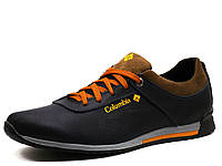 Туфли спортивные мужские Columbia, кожаные, темно-синие, р. 40
