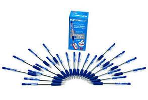 Ручка кулькова А plus 1 мм синя автомат корпус прозорий