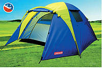 Палатка туристическая 3-х местная coleman 1011, фото 1