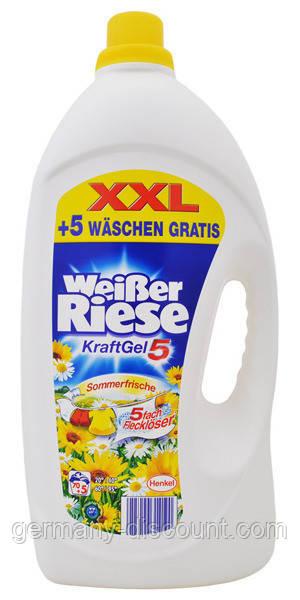 Жидкий гель для стирки Weisser Riese Krafr XXL 70+5 стирок