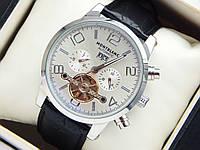 Мужские механические наручные часы Montblanc Automatic с турбийоном на кожаном ремешке, фото 1