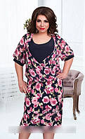 Шифоновое платье в размерах 52-60